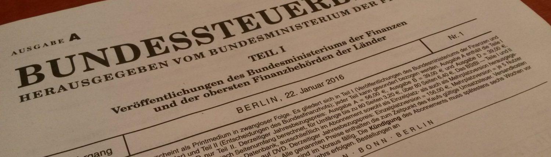 Bundessteuerblatt
